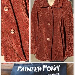 Painted Pony Velvet Swing Coat